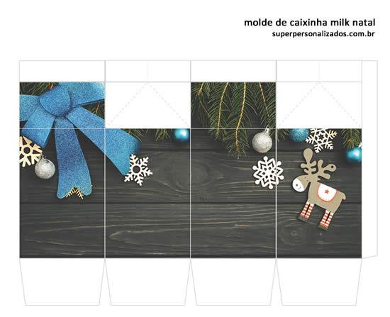 Molde Colorido de Caixa Milk para o Natal