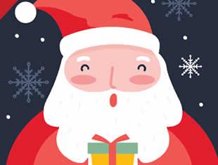 Molde de Caixinha Milk com Papai Noel