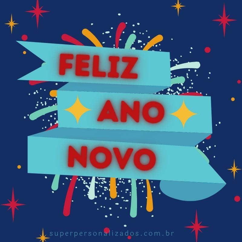 Cartão para desejar Feliz Ano Novo