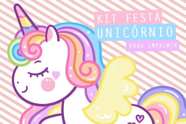 Kit Festa de Unicórnio para imprimir
