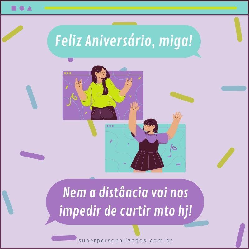 Cartão para amiga de Feliz Aniversário