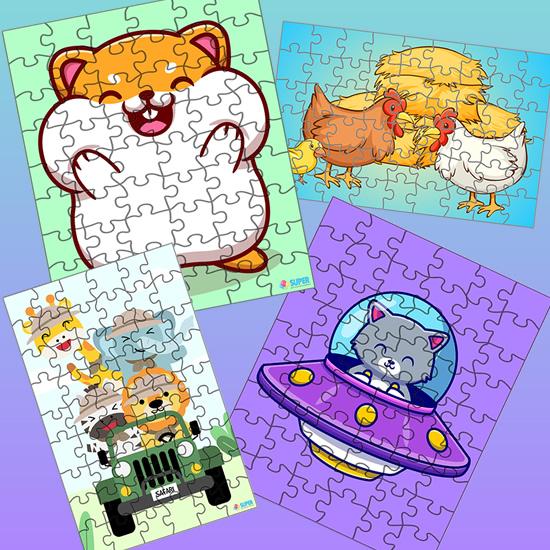 Quebra-cabeças infantis para imprimir