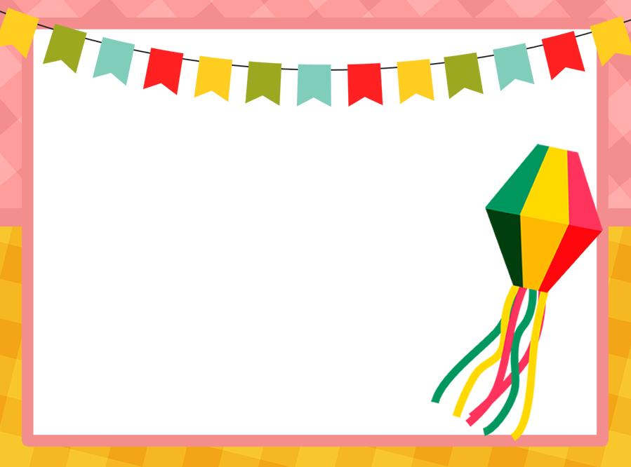 Molde para convite de Festa Junina