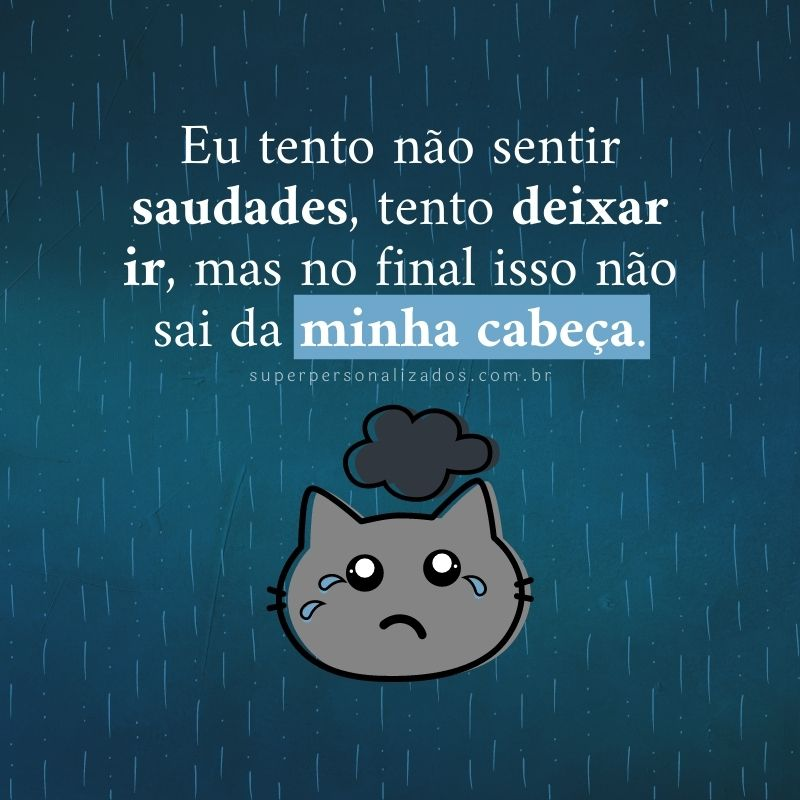 Mensagem triste